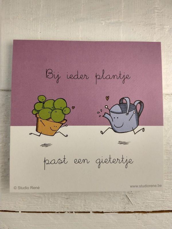 Ieder plantje Wenskaart Studio René