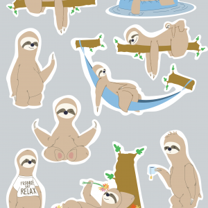 Stickerset Relax