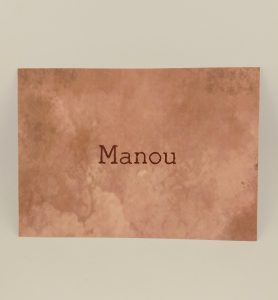 Geboortekaartje Manou